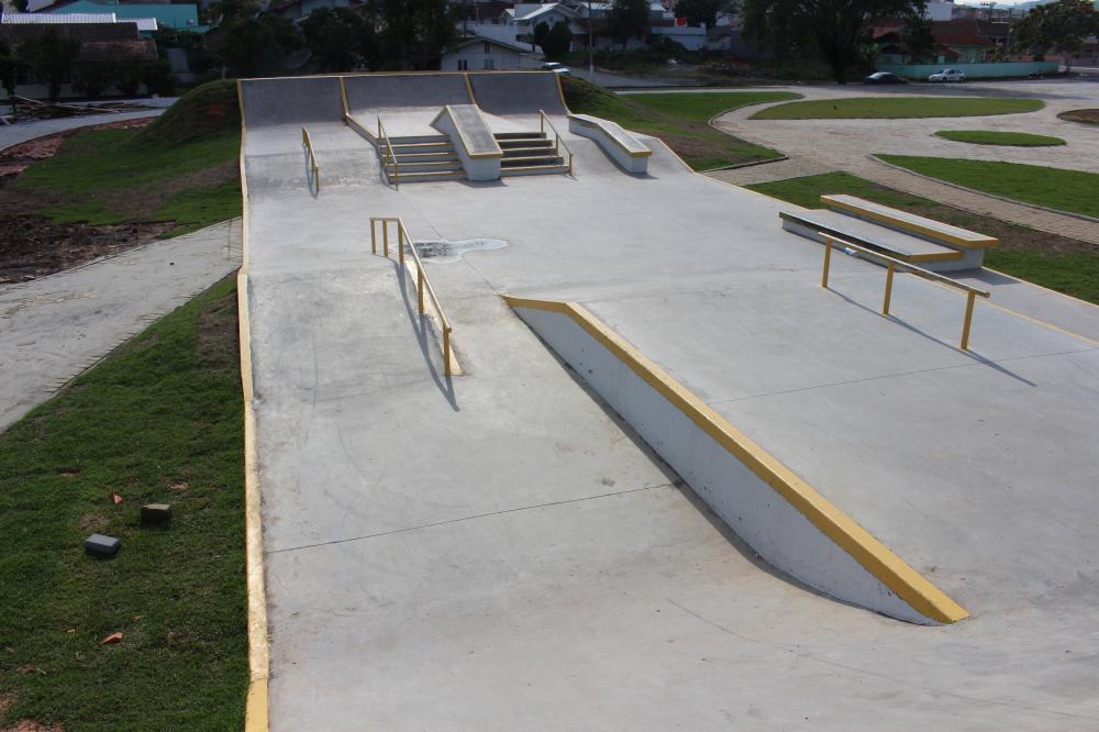 Pista de Skate é primeira obra concluída no Parque da Cidade de Ituporanga
