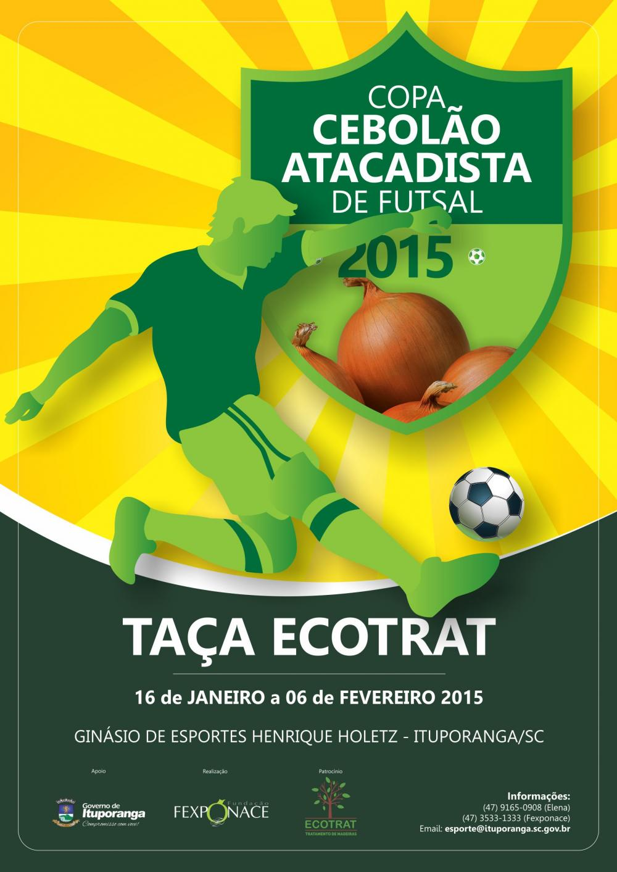 Congresso técnico definirá detalhes Copa Cebolão Atacadista de Futsal 2015