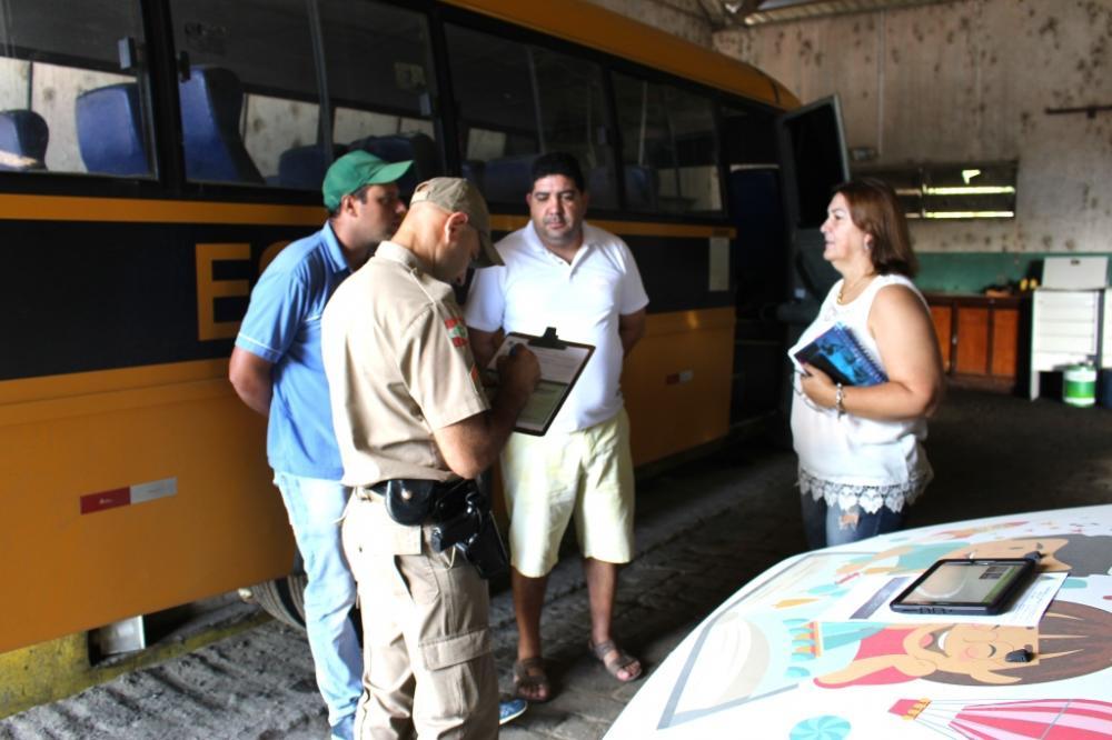 Transporte Escolar de Ituporanga passa por vistoria