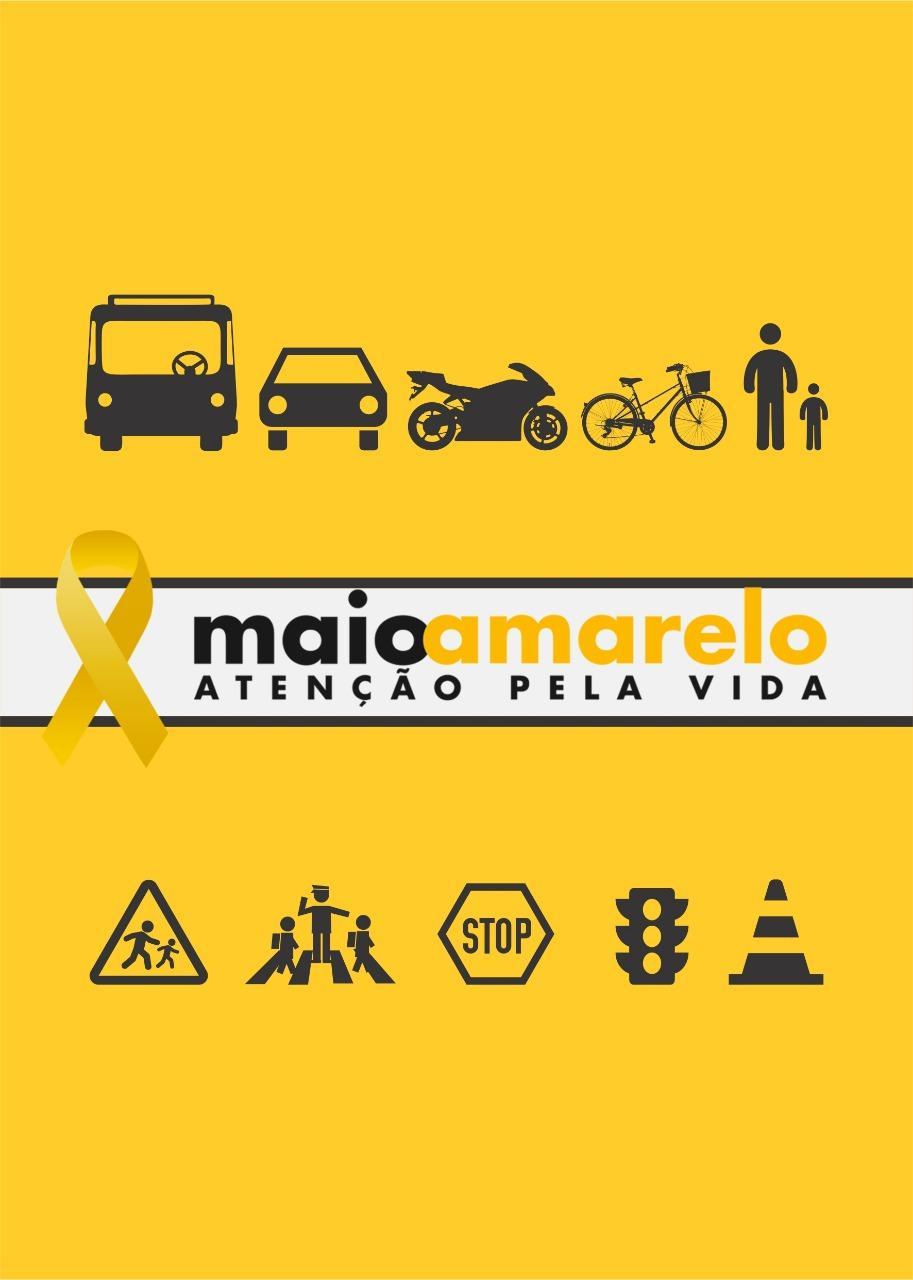 Demutran de Ituporanga promove ações pela campanha Maio Amarelo
