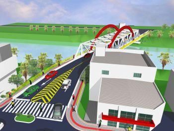 Engenheiro fiscaliza obras da nova ponte em Ituporanga