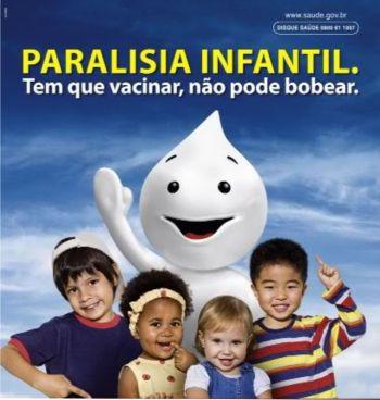 Campanha de vacinação Contra a Poliomielite começa dia 8
