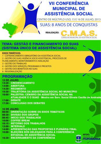 Prefeitura realizará Conferência Municipal de Assistência Social