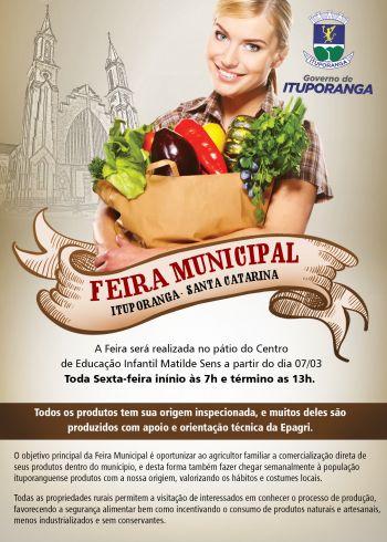 Ituporanga promove 1º Feira Municipal da Agricultura Familiar