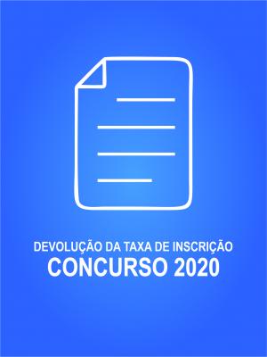 Devolução Taxa Inscrição Concurso 2020