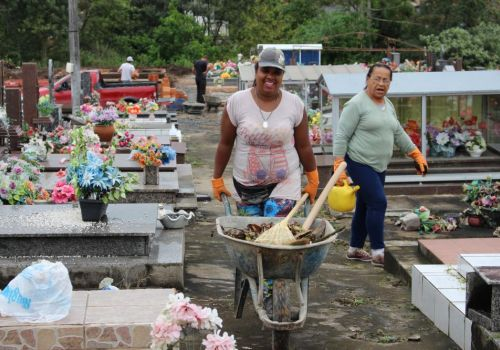 Prefeitura de Ituporanga intensifica limpeza no cemitério municipal para Finados
