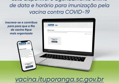 Administração de Ituporanga disponibiliza sistema para agendamento de vacinas COVID