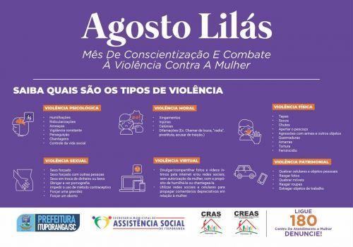 Administração de Ituporanga realiza ações de conscientização pelo fim da violência contra a mulher