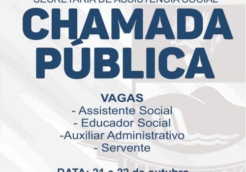 Administração de Ituporanga realiza Chamada Pública para a Secretaria de Assistencia Social