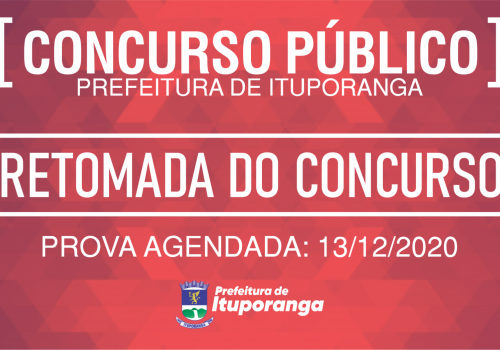 Comunicado: Retomada do Concurso
