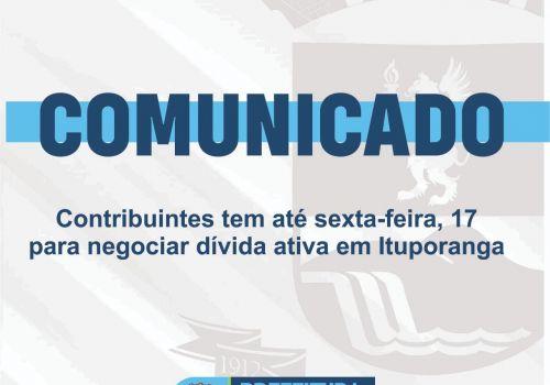 Contribuintes em dívida ativa tem até sexta-feira para negociar débitos em Ituporanga
