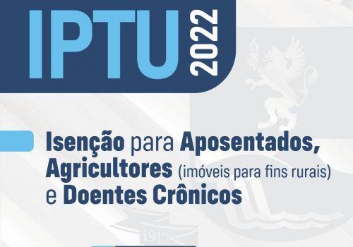 Contribuintes podem solicitar isenção do IPTU para 2022