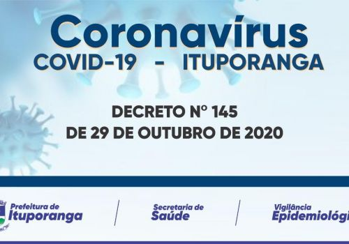 DECRETO 145 SOBRE A COVID- 19   MEDIDAS DE ENFRENTAMENTO