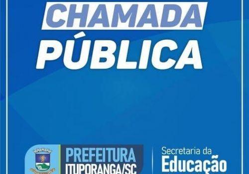 Nesta semana tem chamada pública para a contratação de serventes em Ituporanga