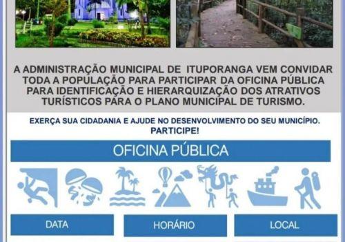 Oficina Pública para elaboração do Plano Municipal do turismo será realizada em Ituporanga