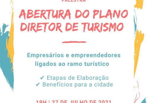 Palestra vai tratar sobre a abertura do Plano Diretor do Turismo de Ituporanga