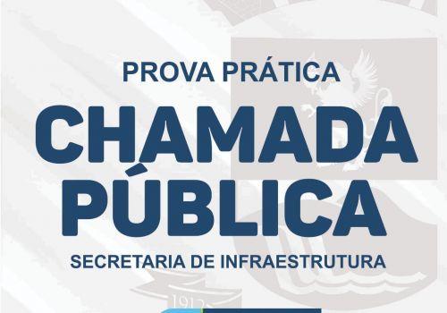 Prova prática para contratação de profissionais na Secretaria de Infraestrutura será realizada