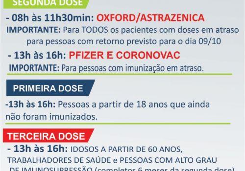 Sábado tem vacinação contra a Covid-19 em Ituporanga