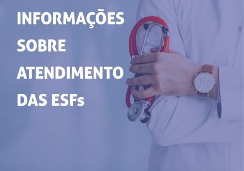Secretaria de saúde divulga cronograma de atendimento nas ESF'S